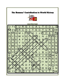 The Romans' Contribution to World History