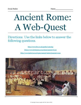 Ancient Rome web quest