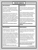 Ancient Sumer: Reading and Worksheet