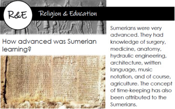 Ancient Sumerians of Mesopotamia Comprehensive REFERENCE & 55 TRIVIA CARDS