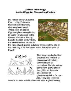 Ancient Technology: Ancient Egyptian Glassmaking Factory