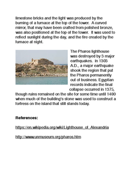 Ancient Technology: Pharos Lighthouse of Alexandria