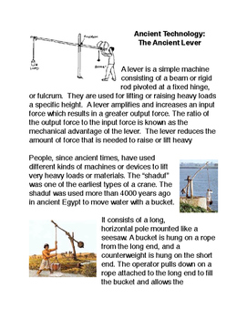 Ancient Technology: The Ancient Lever