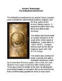 Ancient Technology:  The Antikythera Mechanism