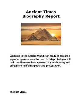 Ancient Times Biography Report