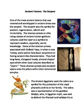 Ancient Totems:  Serpents