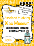 Ancient History Wax Museum 9-12 CCSS Aligned with Differentiated Options