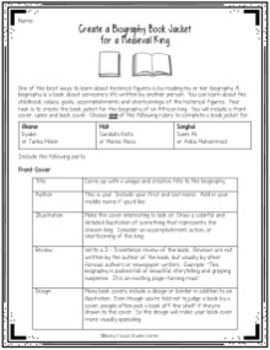 Ancient West Africa Unit - Ghana, Mali & Songhai - 10 Activities & Projects