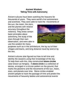 Ancient Wisdom: Telling Time with Astronomy
