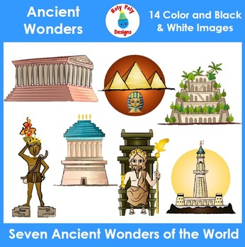 Ancient Wonders of the World Clip Art