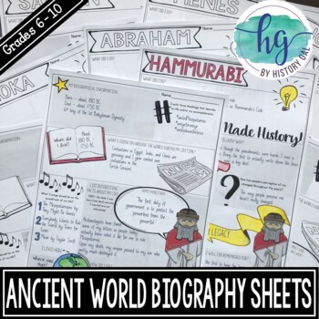 Ancient World Biography Pages