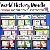 Ancient & World History DIGITAL Interactive Notebook BUNDLE 9 Units Google Drive