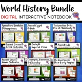 Ancient & World History DIGITAL Interactive Notebook BUNDLE Distance Learning