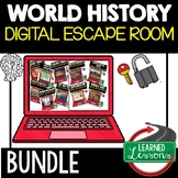 Ancient World History Digital Escape Room, Breakout Room Test Prep