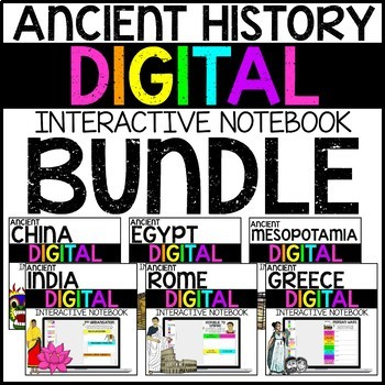 Ancient World History Digital Interactive Notebook BUNDLE for Google Drive