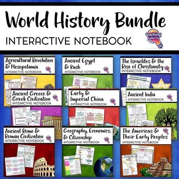 Ancient kush teaching resources teachers pay teachers ancient world history interactive notebook social studies bundle fandeluxe Images
