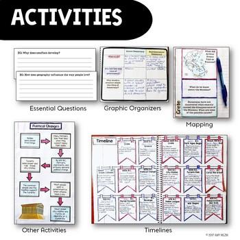 Ancient / World History Interactive Notebook Social Studies BUNDLE