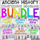Ancient World History Interactive Notebook and Graphic Organizers Bundle