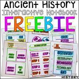 Ancient World History Interactive Notebook and Graphic Organizers Freebie