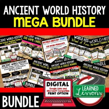 Ancient World History MEGA BUNDLE (World History Bundle)