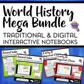 Ancient/World History MEGA BUNDLE: Digital & Paper Interactive Notebooks