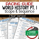 Ancient World History Pacing Guide, Goes with World History Mega Bundle