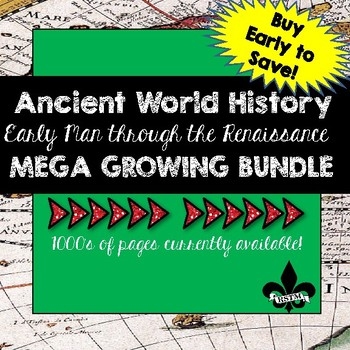 Ancient World History MEGA Growing Bundle