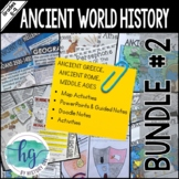 Ancient World History Bundle Set #2 Ancient Greece through Middle Ages