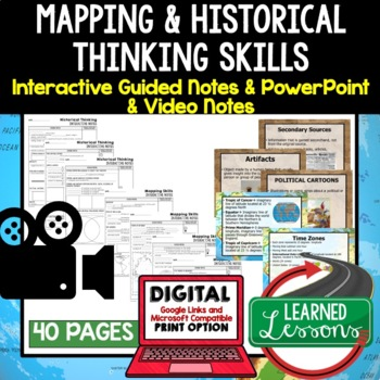 Ancient World History Notes and PowerPoints, Interactive Guided Notes, Google