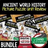 Ancient World History Picture Puzzle Unit Review, Study Gu