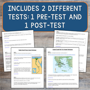 Ancient World History: Student Growth Pretest and Posttest