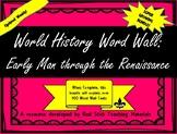 Ancient World History Word Wall Bundle