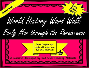 Ancient World History Word Wall--Growing Bundle