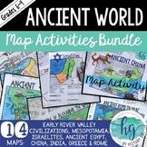 Ancient World Map Activities Bundle (Print and Digital)