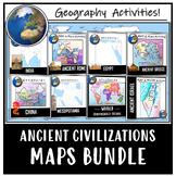 Ancient World Maps- Color & Label Activities!