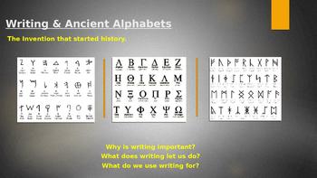 Ancient Writing Presentation