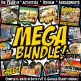 Ancient History YEAR IN CURRICULUM Complete Units Google Ready Combined Bundle