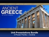 Ancient Greece PowerPoint with Guided Outlines: Three Pres
