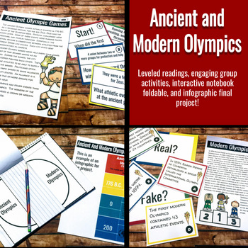 Ancient Greece: Ancient and Modern Olympics Leveled Readings,Games, & Activities