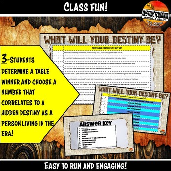 Ancient Egypt What's Your Destiny Close Reading & Fun Reading Comprehension Game