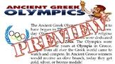 Ancient vs Modern Olympics Activity -- Ancient Greece -- M