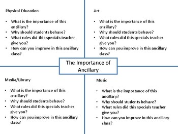 Ancillary Conduct Assignment