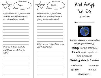 And Away We Go Trifold - 5th Grade Literacy by Design Theme 13