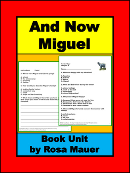 And Now Miguel Book Unit