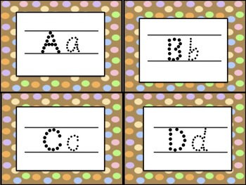 Alphabet Tracing Cards