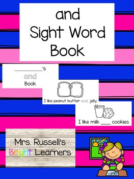 And Sight Word Practice Book