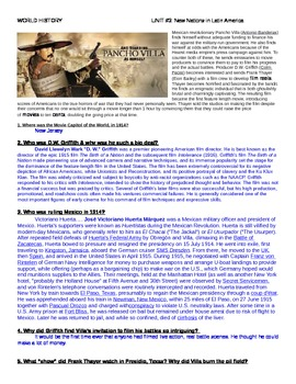 """""""And Starring Pancho Villa As Himself"""" movie guide & key"""