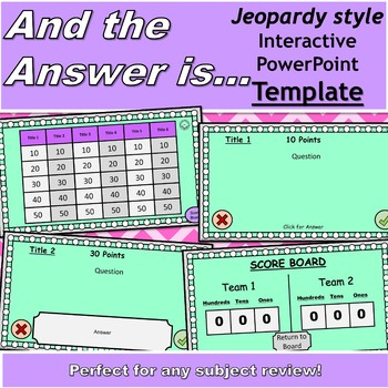 And The Answer Is...? Review Game Template {WITH Score Board}