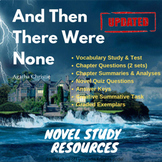 And Then There Were None - Agatha Christie - Novel Study R