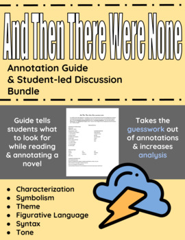 And Then There Were None Annotation Guide and Student-led Discussion Bundle